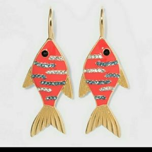 SUAGRFIX BY BAUBLEBAY FISH DROP EARRINGS